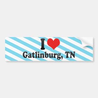 I Love Gatlinburg, TN Bumper Sticker