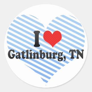 I Love Gatlinburg, TN Round Stickers