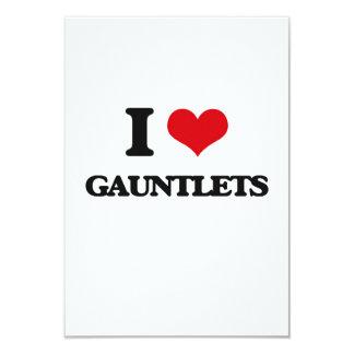 I love Gauntlets 9 Cm X 13 Cm Invitation Card