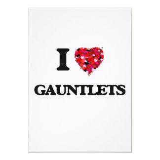 I Love Gauntlets 13 Cm X 18 Cm Invitation Card