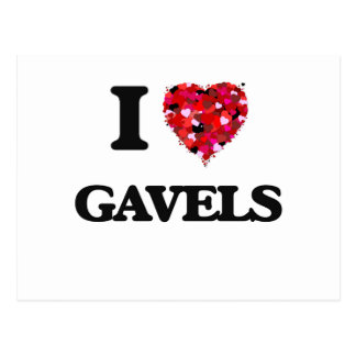 I Love Gavels Postcard