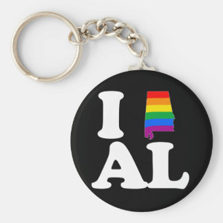 I LOVE GAY ALABAMA -- WHITE -.png Key Chains