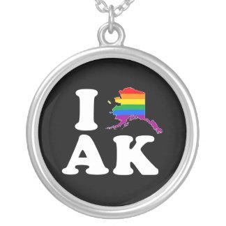 I LOVE GAY ALASKA - WHITE -.png Pendants
