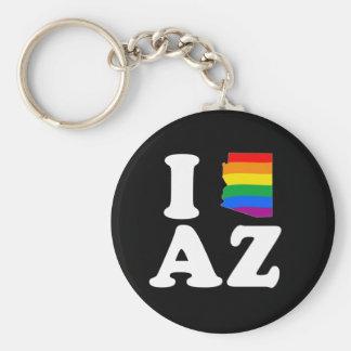 I LOVE GAY ARIZONA - WHITE -.png Key Chains