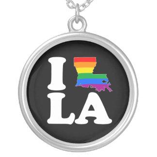 I LOVE GAY LOUISIANA - WHITE -.png Pendant