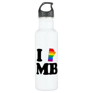 I LOVE GAY MANITOBA -.png 710 Ml Water Bottle