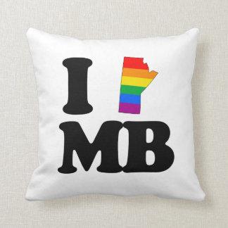 I LOVE GAY MANITOBA -.png Cushion