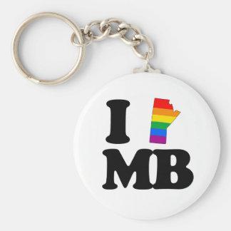 I LOVE GAY MANITOBA -.png Key Chain