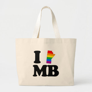 I LOVE GAY MANITOBA -.png Large Tote Bag