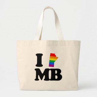 I LOVE GAY MANITOBA -.png Jumbo Tote Bag