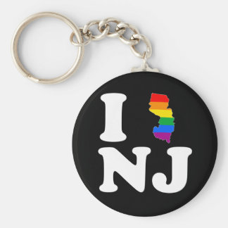 I LOVE GAY NEW JERSEY - WHITE -.png Keychains