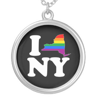 I LOVE GAY NEW YORK - WHITE -.png Personalized Necklace