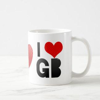 I Love GB Basic White Mug