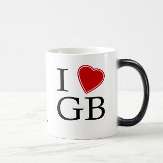 I Love GB Morphing Mug