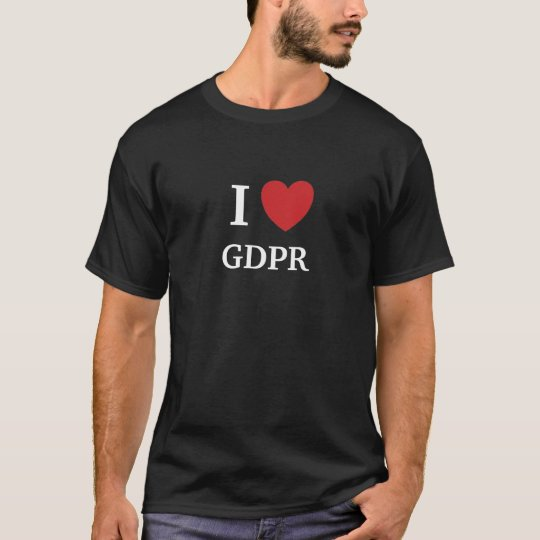 I Love GDPR I Heart GDPR Mens T