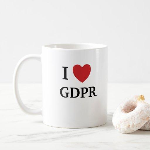 Image of I Love GDPR Mug Funny Data Protection Quote
