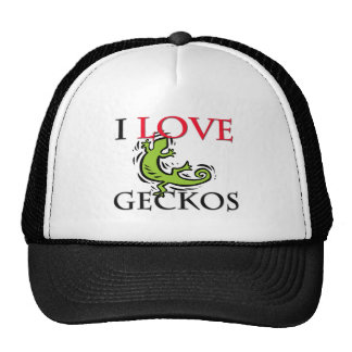 I Love Geckos Cap
