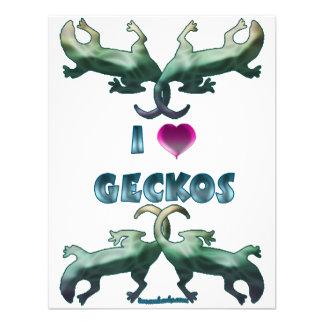 I Love Geckos Invites