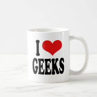 I Love Geeks Basic White Mug