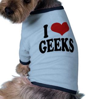 I Love Geeks Dog T-shirt