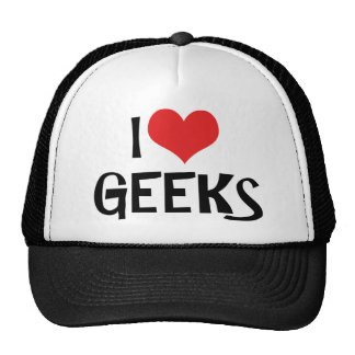 I Love Geeks Hat
