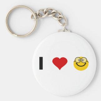 I love Geeks Basic Round Button Key Ring