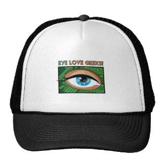 I love geeks mesh hats