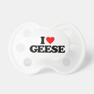 I LOVE GEESE BABY PACIFIERS