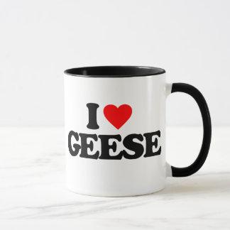I LOVE GEESE MUG