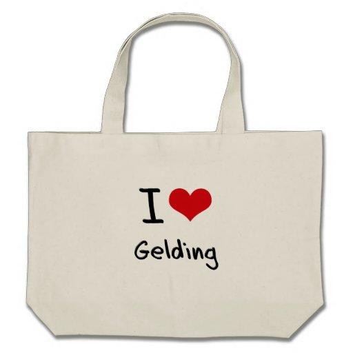I Love Gelding Canvas Bags