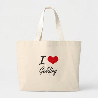 I love Gelding Jumbo Tote Bag