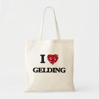 I Love Gelding Budget Tote Bag