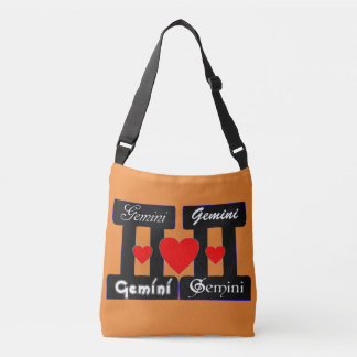 ♊★😍I Love Gemini-Best-Zodiac Sign All-Over-Print Crossbody Bag