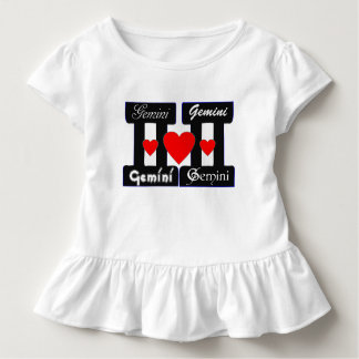 ♊★😍I Love Gemini-Best-Zodiac Sign Sporty Toddlers Toddler T-Shirt