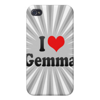 I love Gemma Cover For iPhone 4