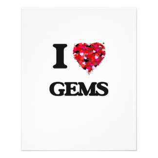 I Love Gems 11.5 Cm X 14 Cm Flyer