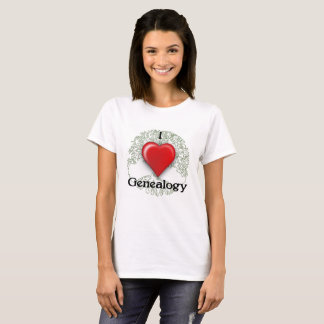 I love Genealogy Custom T-Shirt
