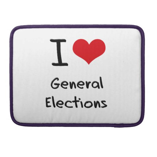 I Love General Elections Sleeve For MacBooks