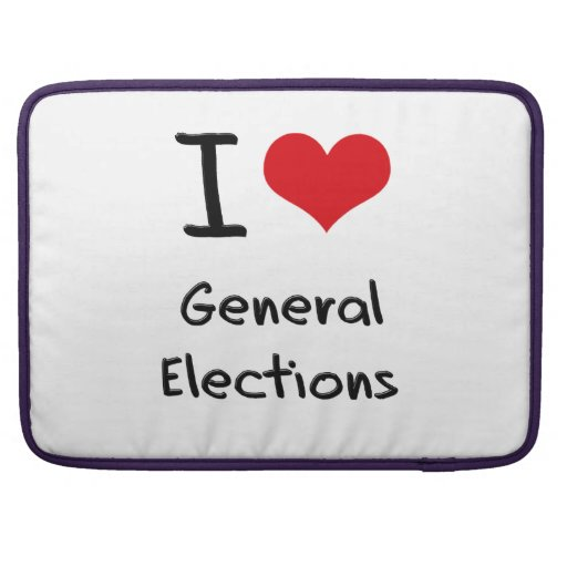 I Love General Elections MacBook Pro Sleeves
