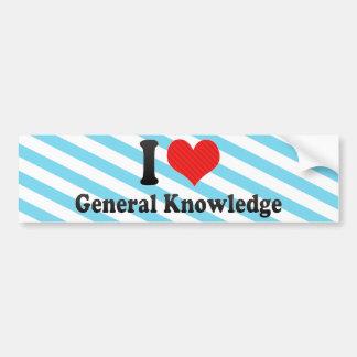 I Love General Knowledge Bumper Stickers