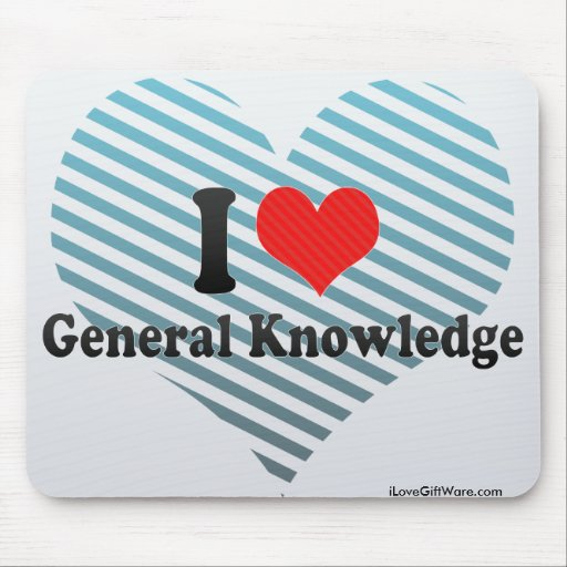 I Love General Knowledge Mousepads