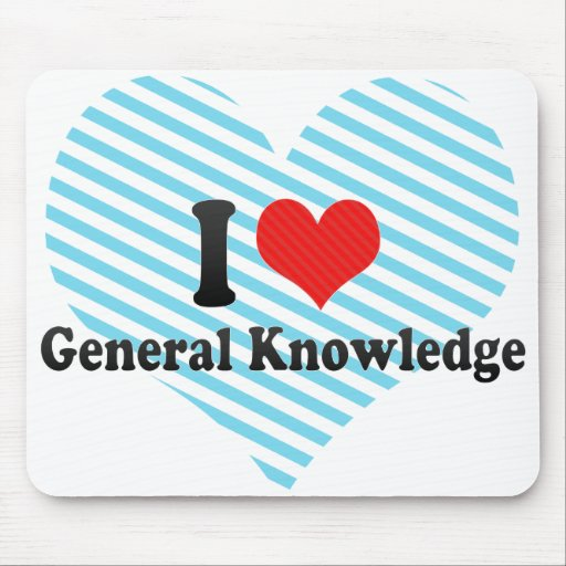 I Love General Knowledge Mouse Pad