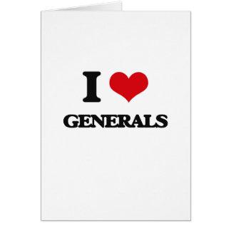 I love Generals Greeting Card