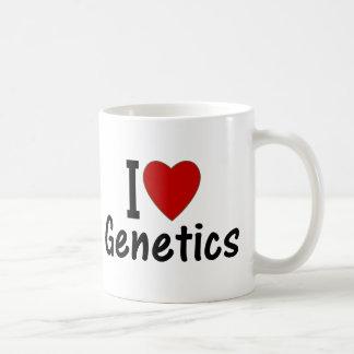 I Love Genetics Basic White Mug