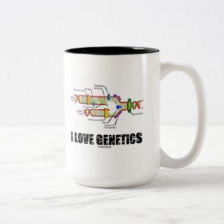 I Love Genetics (DNA Replication) Mugs