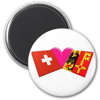 I Love Geneva Refrigerator Magnet