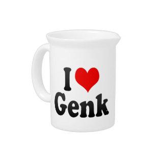 I Love Genk, Belgium Beverage Pitchers