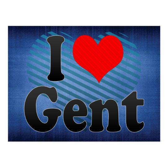 I Love Gent, Belgium. Ik Hou Van Gent, Belgium Postcard