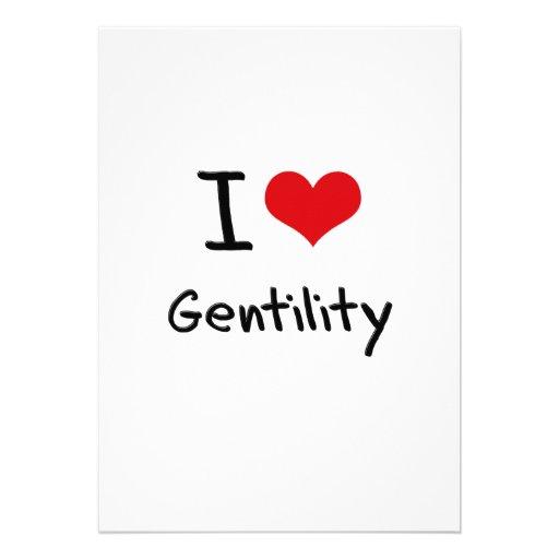 I Love Gentility Personalized Invites