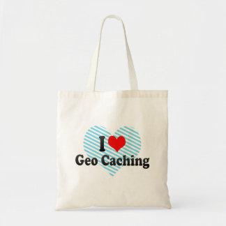 I love Geo Caching Budget Tote Bag